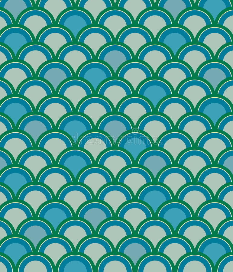 Download Scale Pattern in Blue stock illustration. Image of motif - 5045081