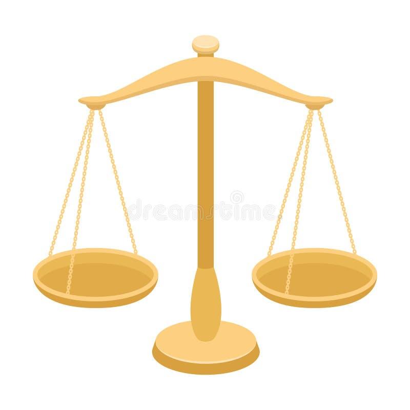 Scale per gioielli Pesi per la punizione di misurazione Singola icona della prigione nelle azione di simbolo di vettore di stile  illustrazione vettoriale