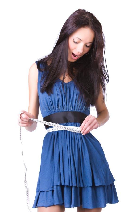 scale slim woman young στοκ εικόνα με δικαίωμα ελεύθερης χρήσης