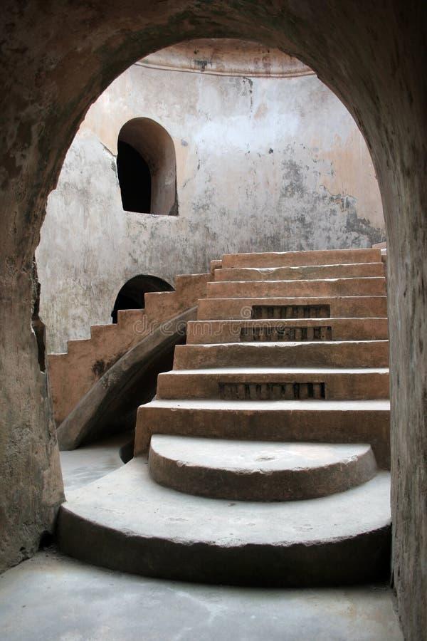 Scale sotterranee fotografie stock libere da diritti