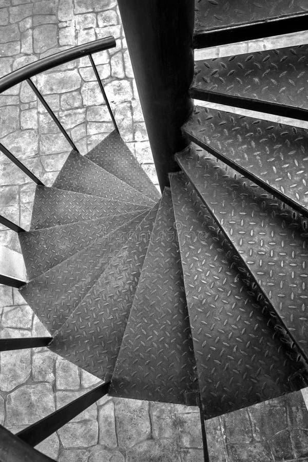 Scale a spirale in bianco e nero fotografia stock
