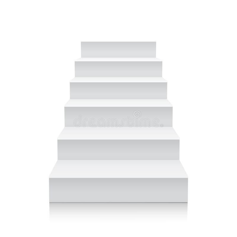 Scale su priorità bassa bianca illustrazione vettoriale