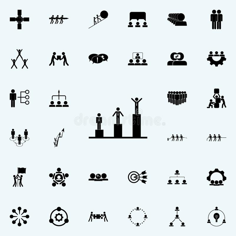 scale of success icon. Teamwork icons universal set for web and mobile stock illustration