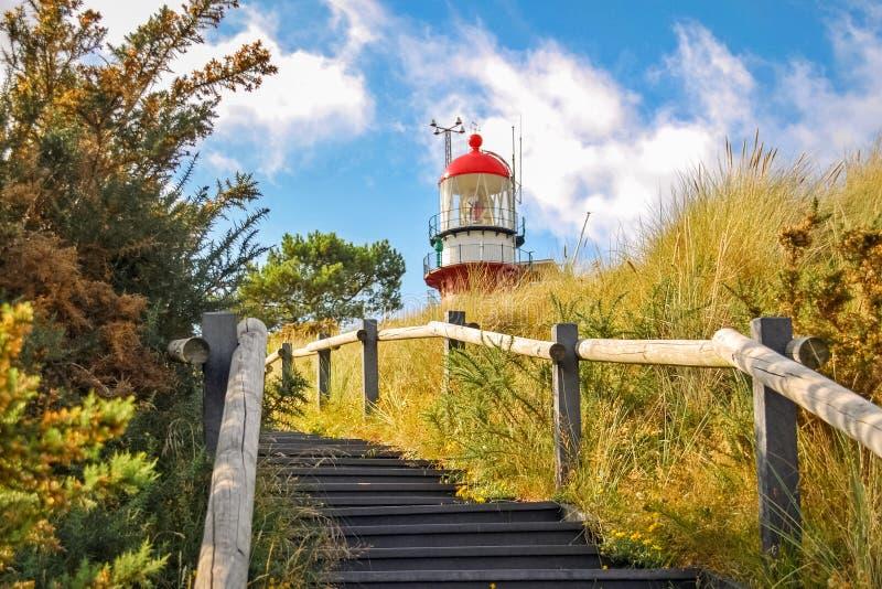 Scale verso il faro di Vlieland immagini stock libere da diritti