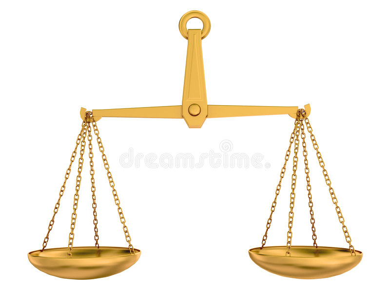 Scale vuote dell'oro royalty illustrazione gratis