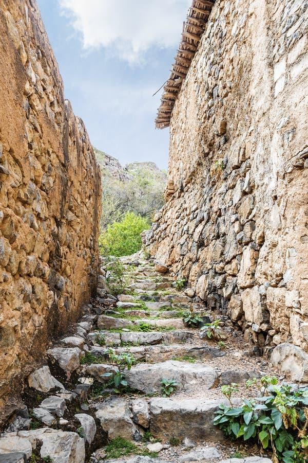 Scale Wadi Bani Habib immagine stock