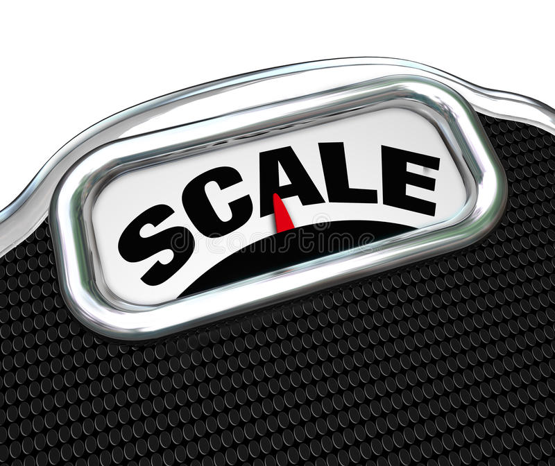 Download Scale Word On Measurement Tool Device Measuring Weight Stock Illustration - Illustration: 29539481