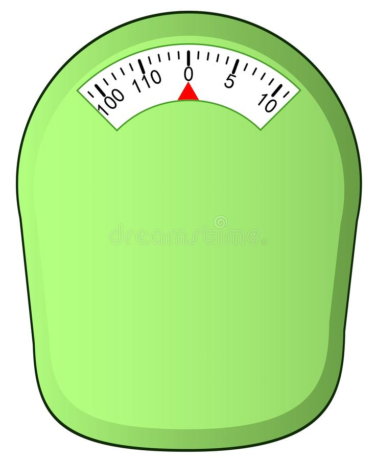 Download Scale isolated stock illustration. Image of chubby, diet - 22560155
