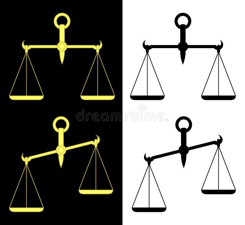 scales royaltyfri illustrationer
