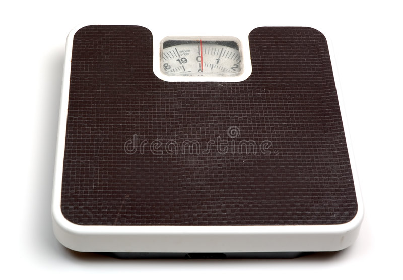 Scales. Weighing scales (high key), isolated on white background stock photography