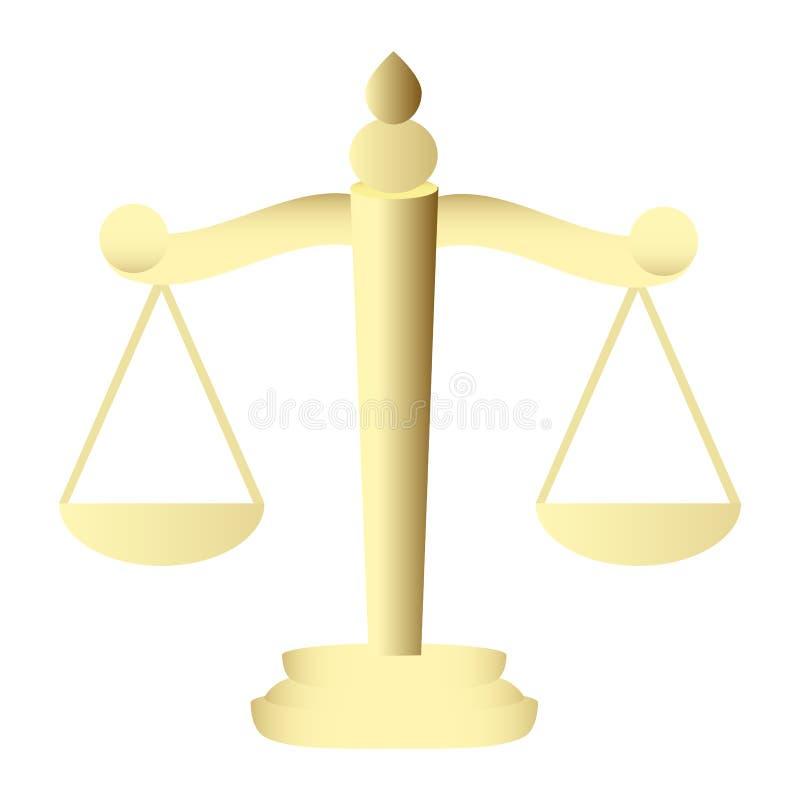 Scales av rättvisa stock illustrationer