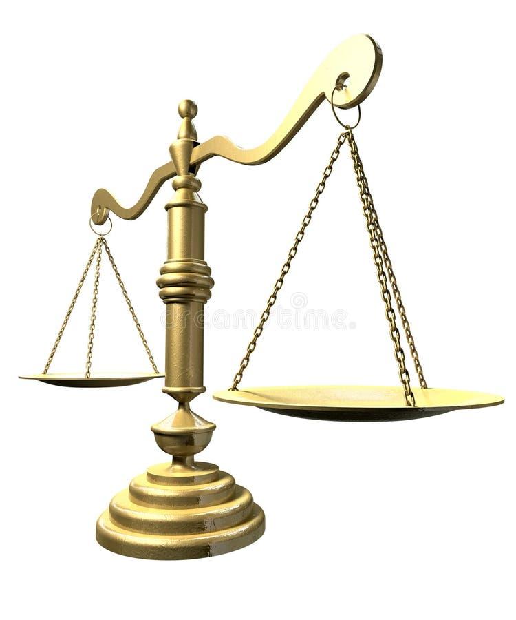 Scales av rättvisaperspektiv royaltyfri illustrationer