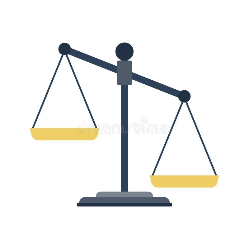 Scales av rättvisasymbolen royaltyfri illustrationer