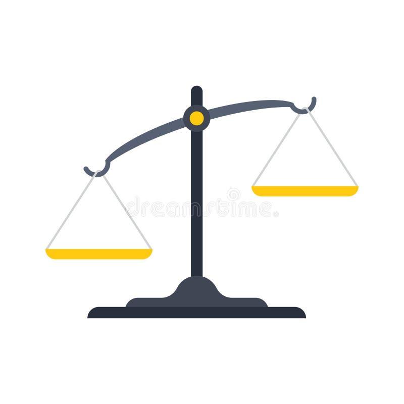 Scales av r?ttvisasymbolen royaltyfri illustrationer