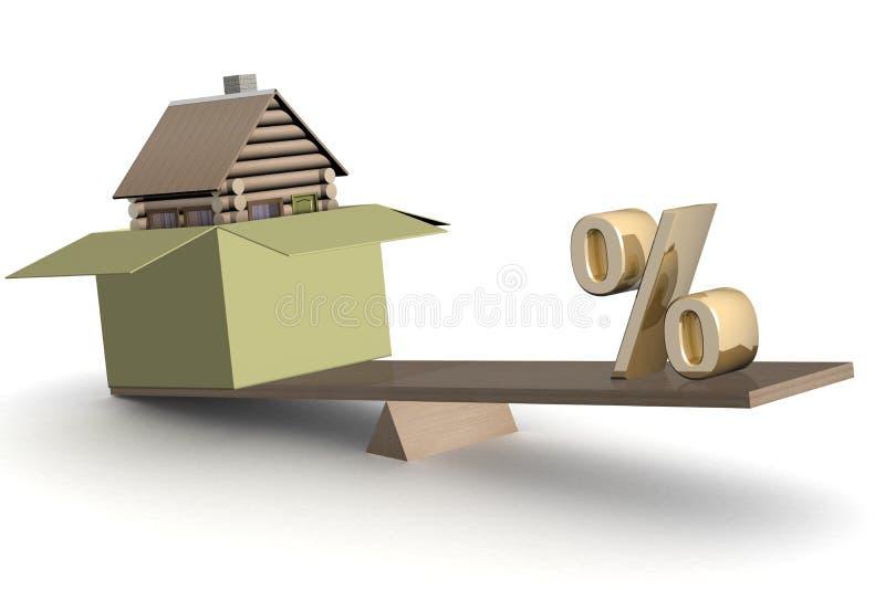 scales för askhusprocent stock illustrationer