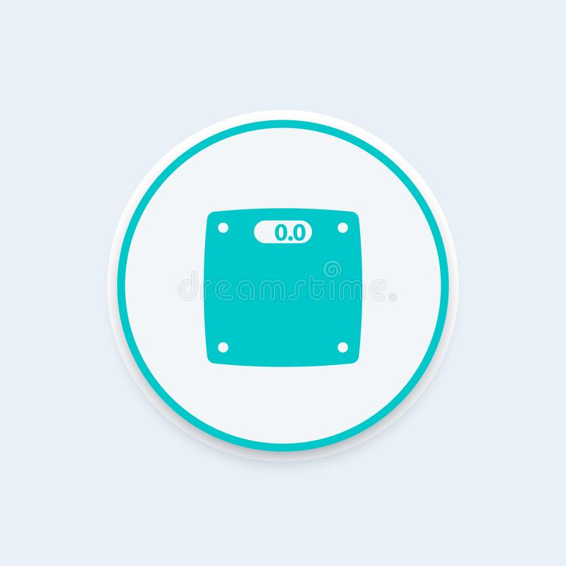 Scales icon, diet, fat loss, weight control vector illustration