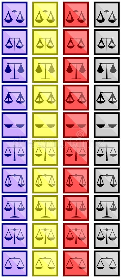 Download Scales icons stock image. Illustration of artistic, gold - 32471359