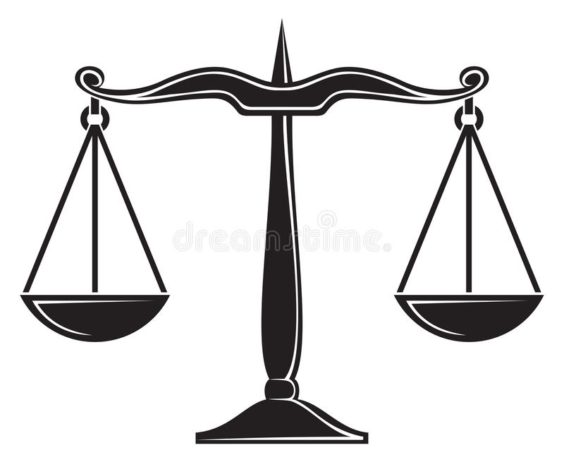 Scales of justice vector illustration