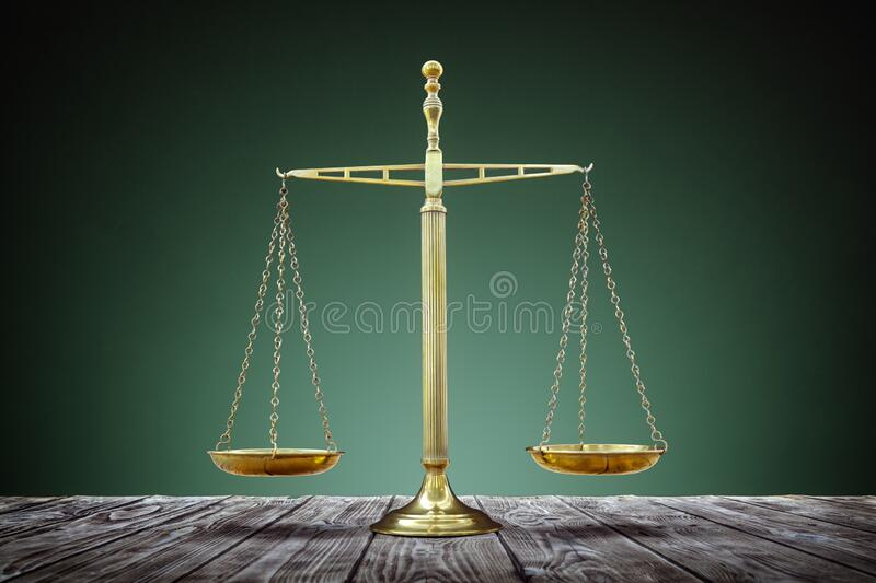Scales of justice equality royalty free stock images