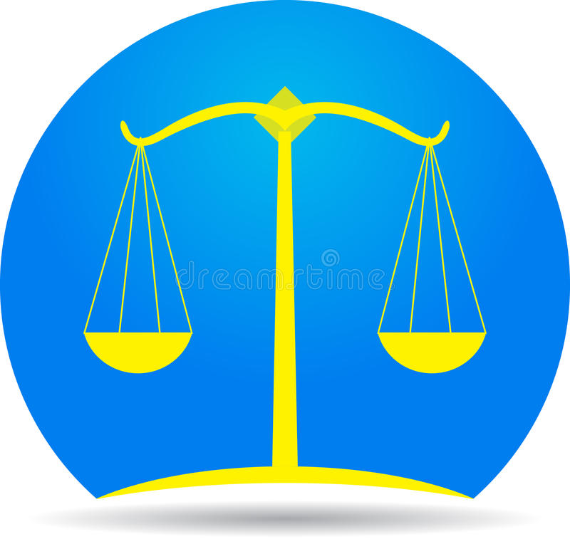 Download Scales of justice icon stock vector. Image of advice - 26794042