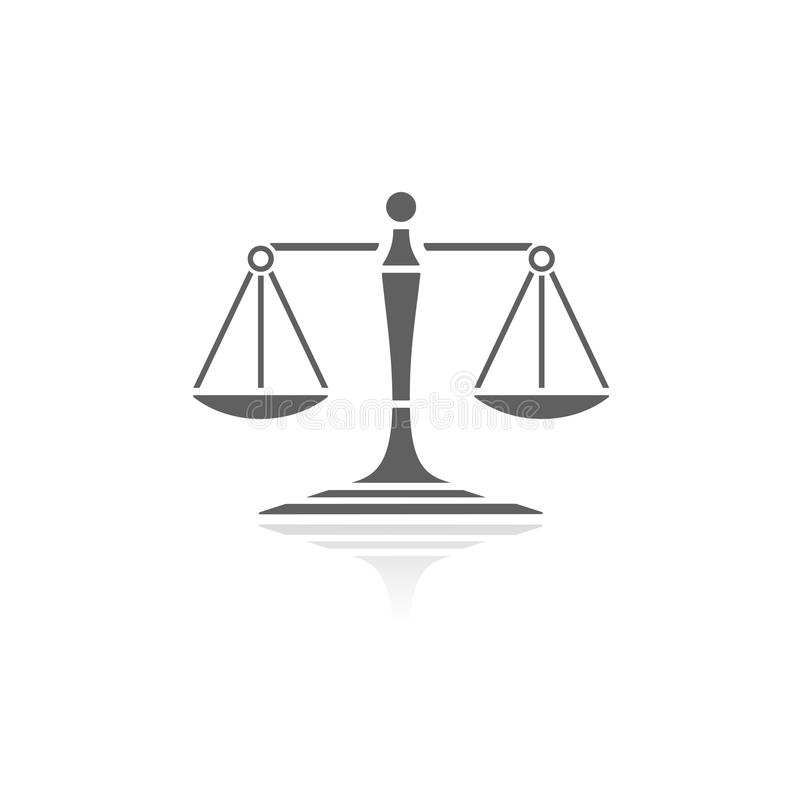 Scales of justice icon stock illustration