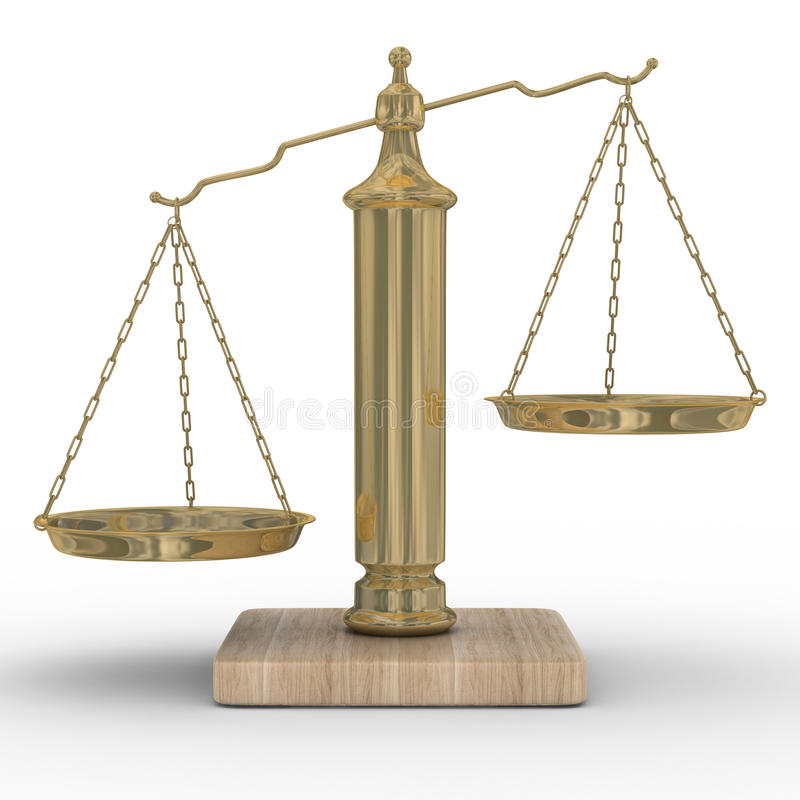 Download Scales Justice On A White Background Stock Illustration - Image: 9694185