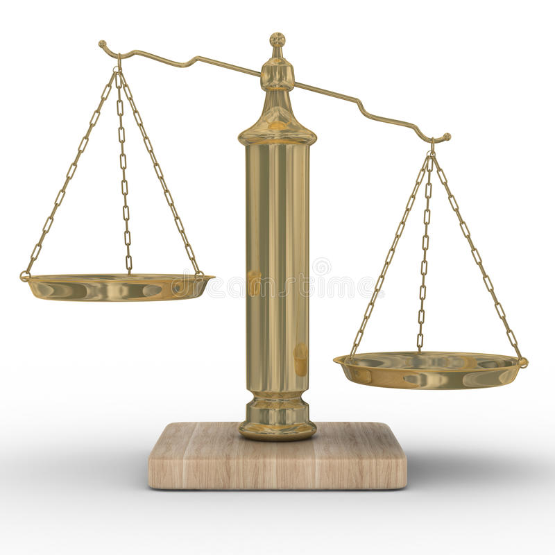 Scales Justice On A White Background Royalty Free Stock Photo
