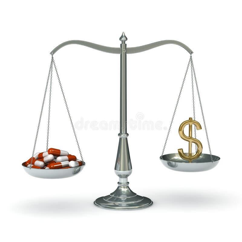 Download Scales medicine dollar stock illustration. Illustration of price - 11713177