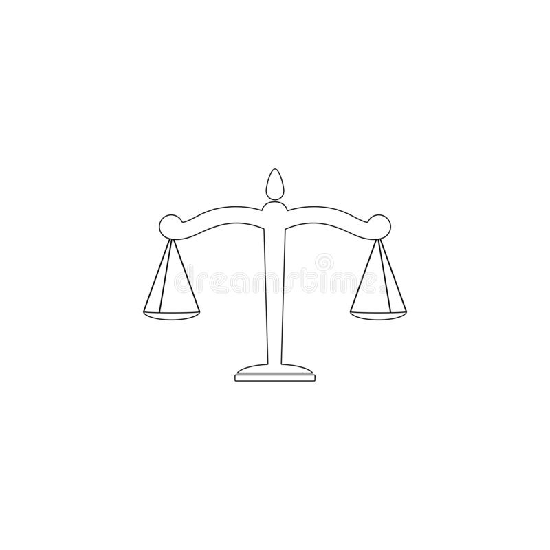 scales Plan vektorsymbol stock illustrationer