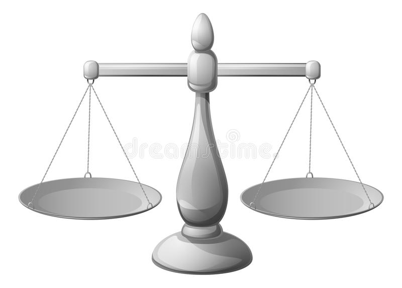 Scales silver royalty free illustration
