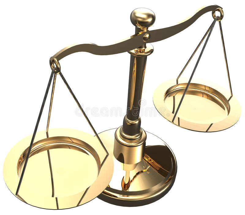 Scales weigh justice choice balance vector illustration