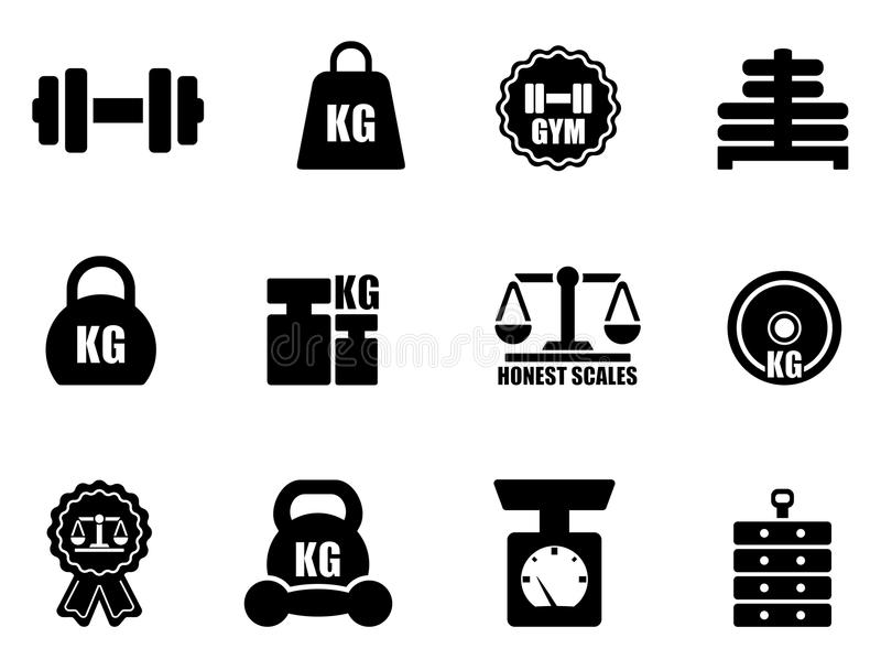 Scales and weighing icon set vector illustration