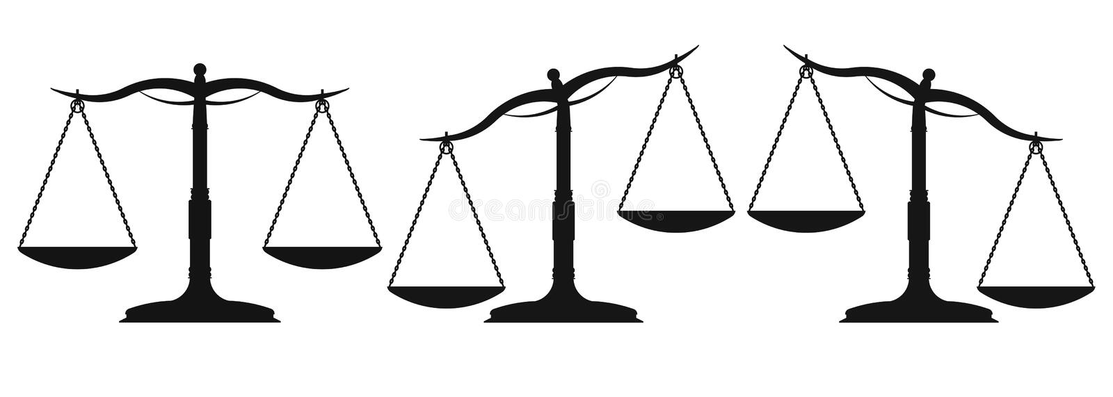 Scales and weight royalty free illustration