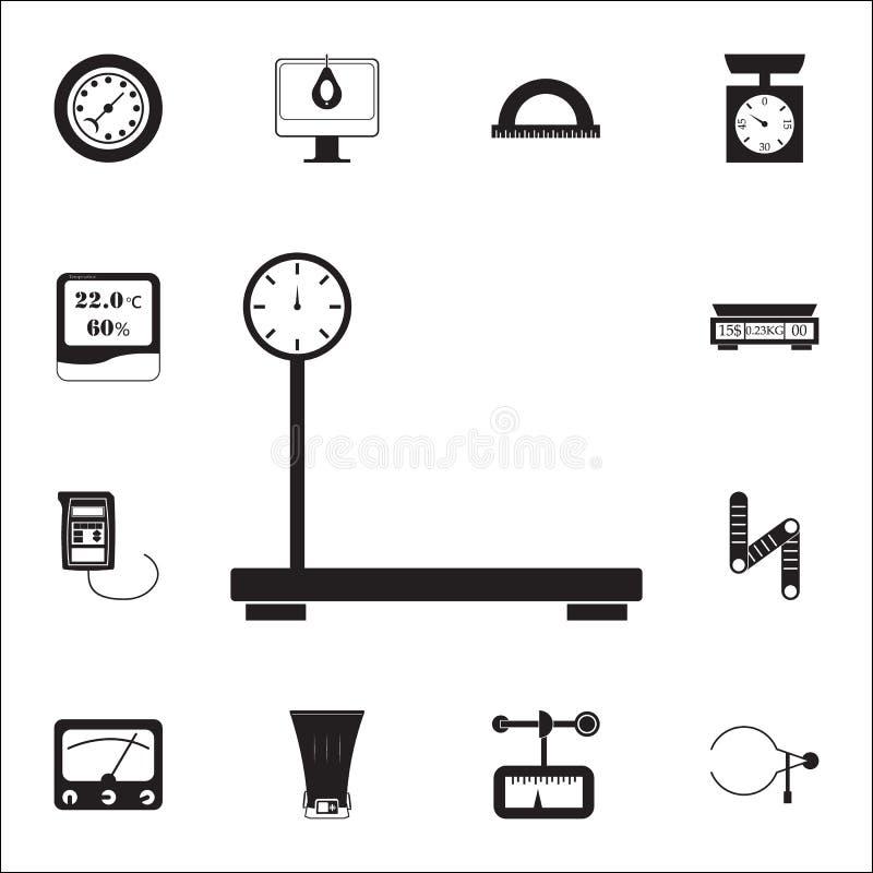 scalesicon mecánico del cargo sistema universal de los iconos de los elementos de medición para el web y el móvil libre illustration