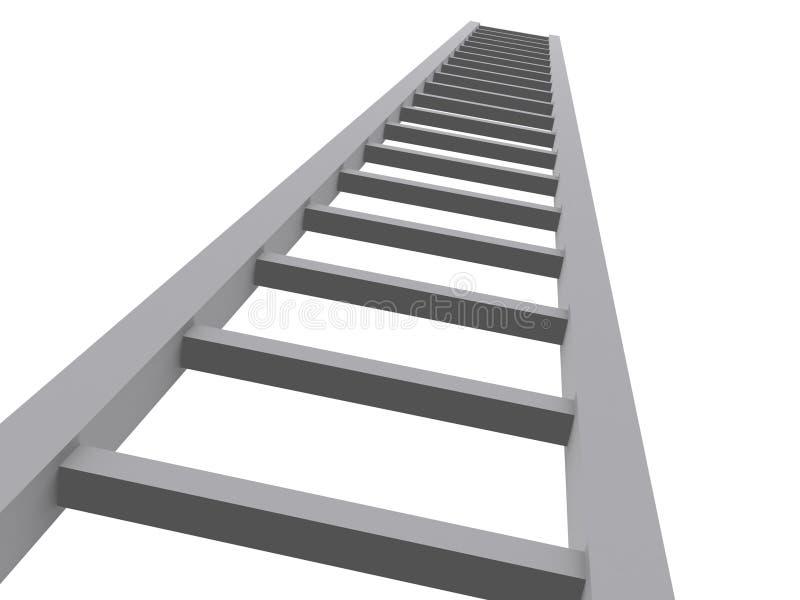 Download Scaletta 3d al cielo illustrazione di stock. Illustrazione di isolamento - 3880315