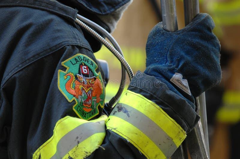 Scaletta 6 Chinatown del corpo dei vigili del fuoco immagine stock