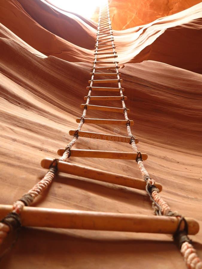 Scaletta del canyon dell'antilope fotografie stock