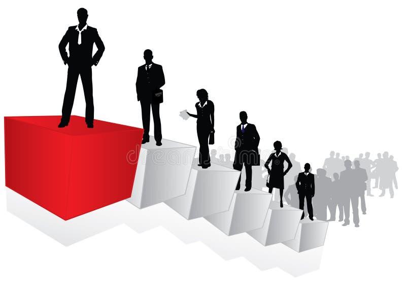 Scaletta di carriera illustrazione vettoriale