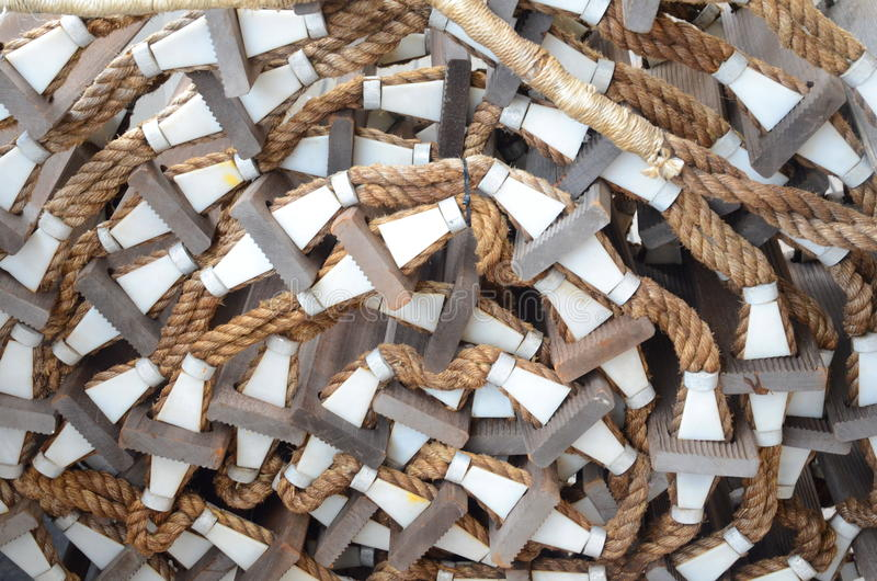 Scaletta di corda fotografie stock libere da diritti