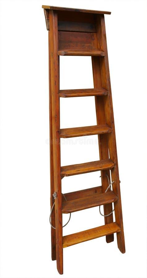 Scaletta di legno antica fotografia stock libera da diritti