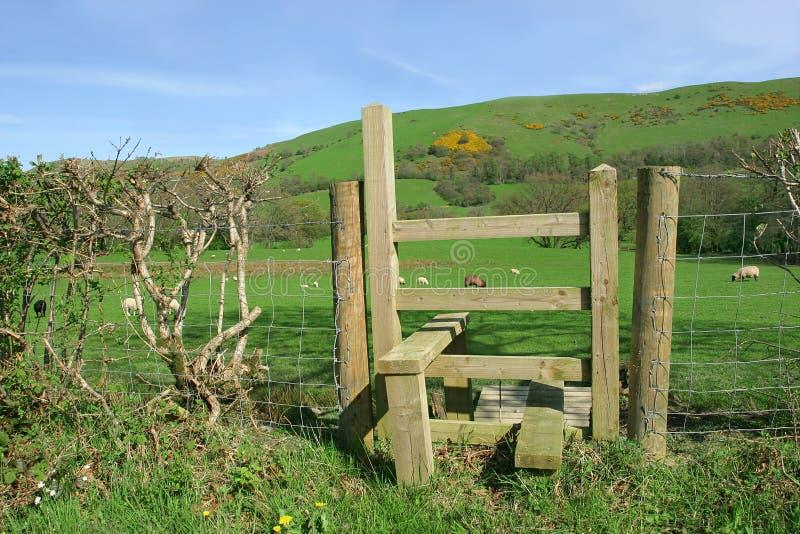 Scaletta di legno rurale immagini stock