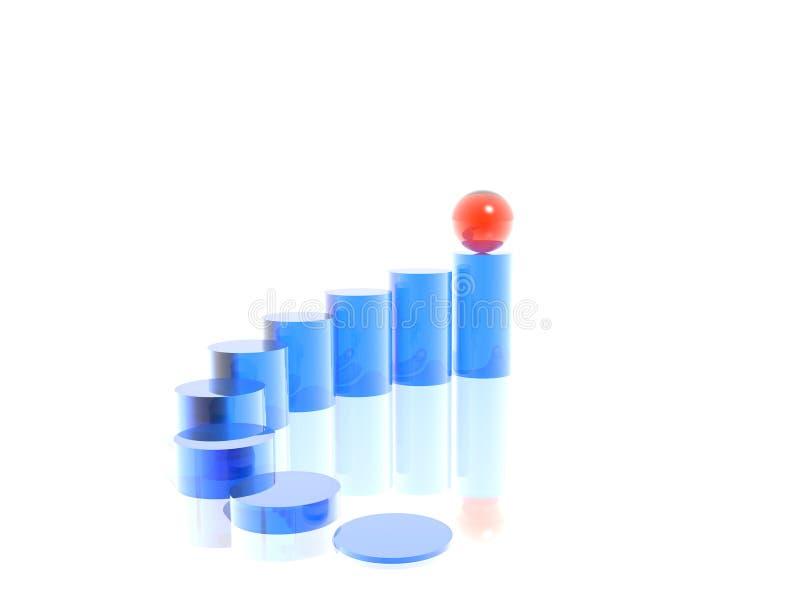 Scaletta e sfera illustrazione di stock