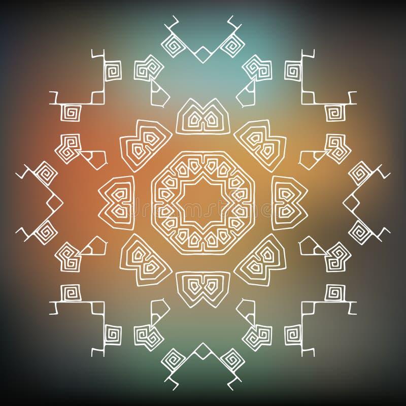 Scaletta etnica o azteca tribale dell'elemento, Icona di vettore, progettazione di logo royalty illustrazione gratis