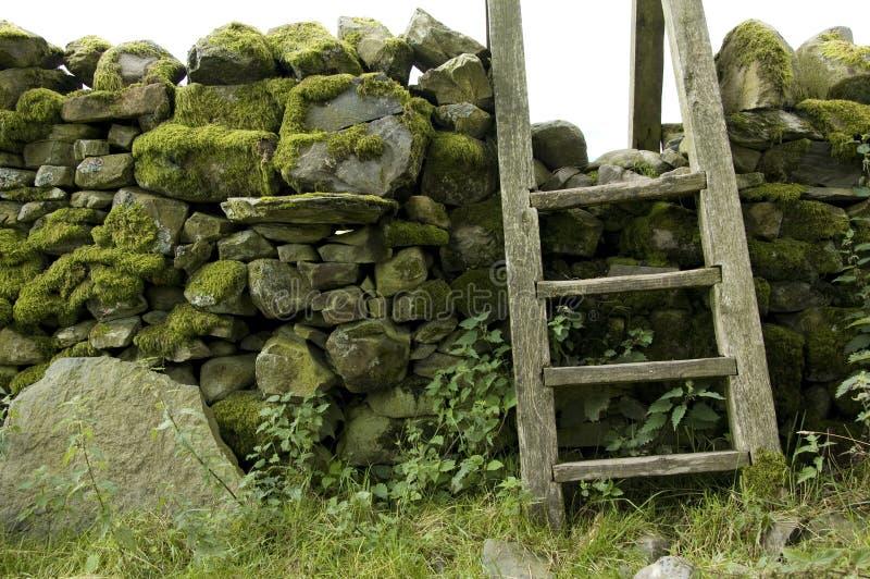 Scaletta in parete, distretto del lago, Regno Unito immagine stock libera da diritti