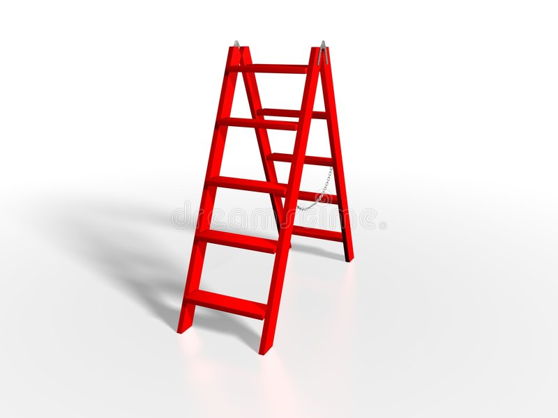 Scaletta rossa illustrazione di stock