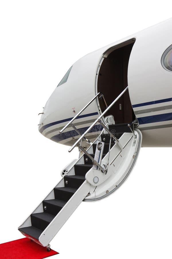 Jet Privato Listino Prezzi : Scaletta in un jet privato immagine stock di