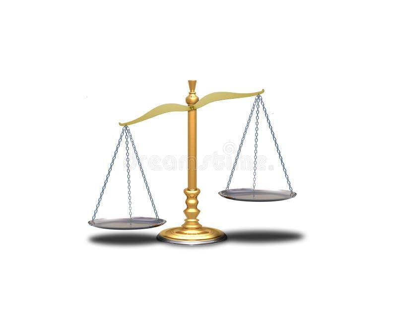 scaleunbalance royaltyfri illustrationer
