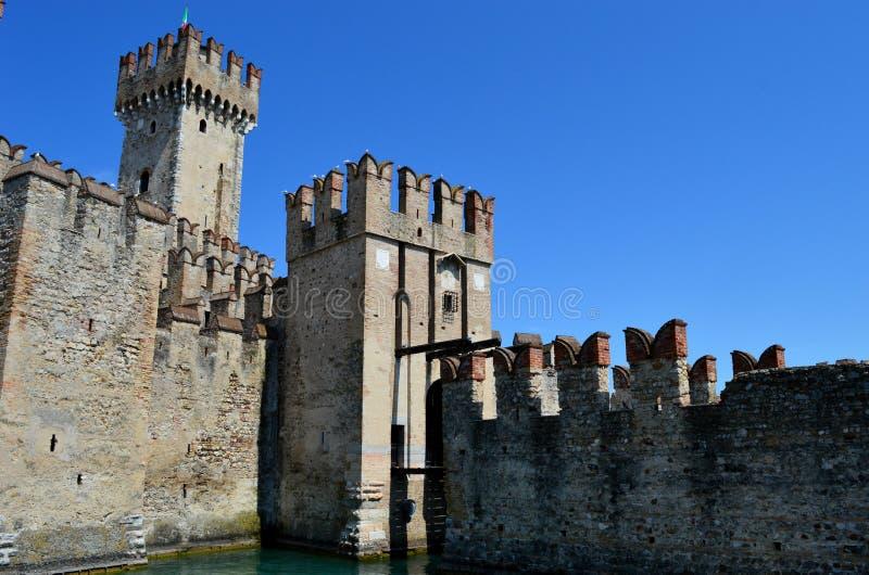Scalidero Castle on Lake Garda. Old Scalidero Castle on Lake Garda stock photos