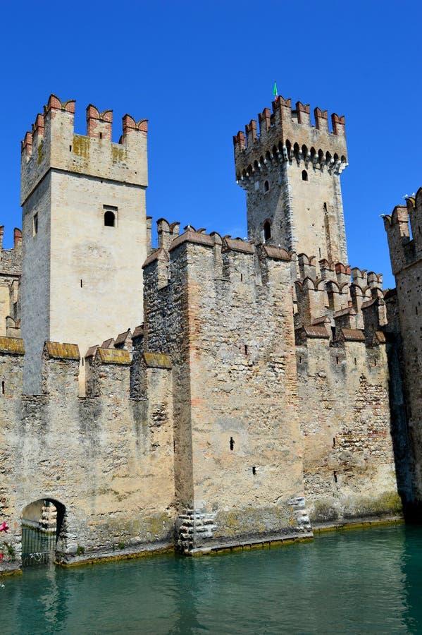 Scalidero Castle on Lake Garda. Old Scalidero Castle on Lake Garda stock image