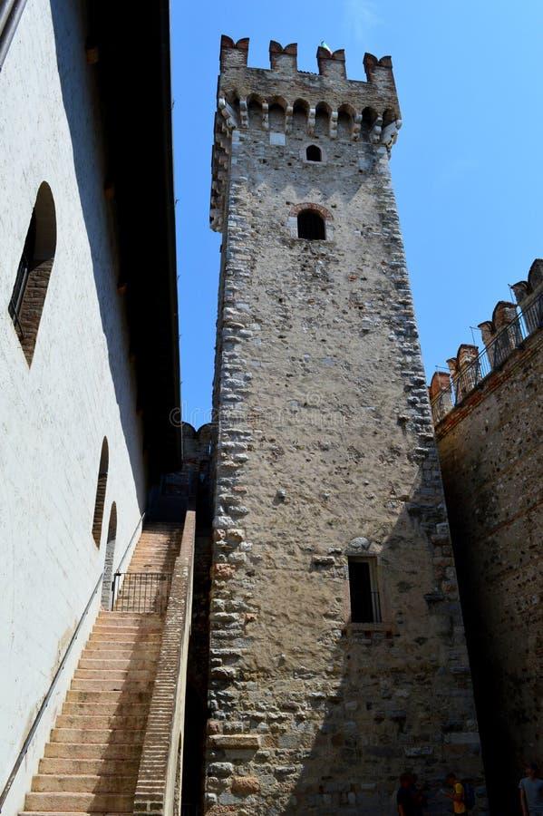 Scalidero Castle on Lake Garda. Old Scalidero Castle on Lake Garda stock photo